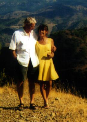 John and Wen in Cyprus 2001